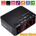 Home/Car Handsfree Chamada Rádio FM Cartão TF Sem Fio Bluetooth Speaker Alarm Clock Frete Grátis com Número Da Trilha 12002991