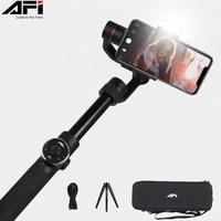 AFI V5 Gimbal Stabilizer For Phone 3 Axis Handheld Smartphone stabilizer cellular phone Selfie Sticks For Gopro Action Camera
