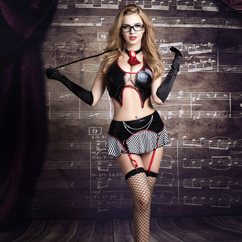 Sexy Teacher Role Play Rochie Erotic Costume de Halloween Femei Sexy Lenjerie Erotic Seductiv Școala Profesor Cosplay Costume 9721