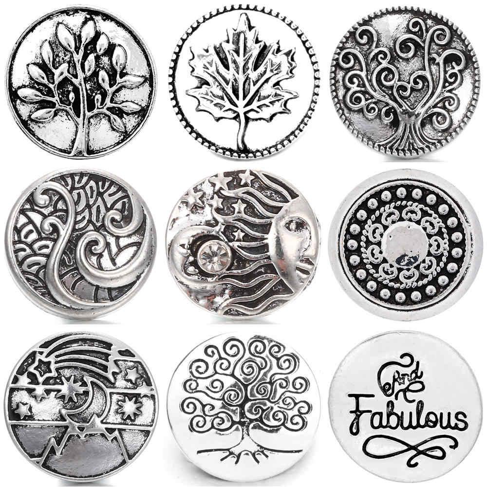 Botón a presión de Metal de alta calidad de 18mm, botón de estilo silvestre, botón a presión, joyería TZ0052
