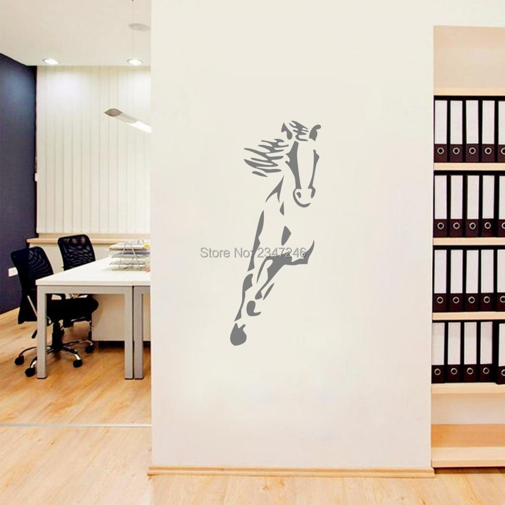 Galloping Horse Animal Wall Sticker Vinyl Murals Decorative Decal for Living Room Bedroom or Office Decor