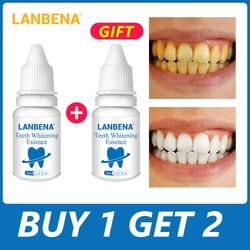 LANBENA الأسنان تبييض جوهر مسحوق نظافة الفم تنظيف المصل يزيل البلاك البقع الأسنان تبيض أدوات طبيب الأسنان معجون الأسنان