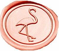 Vintage Cute Flamingos Custom Luxury Wax Seal Sealing Stamp Brass Peacock Metal Handle Sticks Melting Spoon