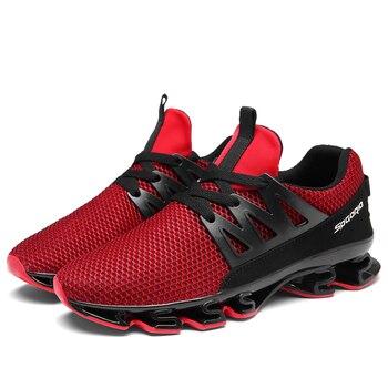 3e74efbe 2019 nuevo zapatillas de deporte casuales zapatos de los hombres de malla  transpirable suave caminar zapatos de hombre al aire libre caminando Plus  tamaño ...