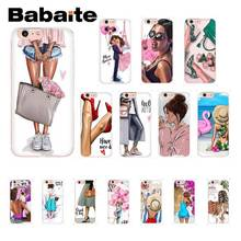 Babaite Модный мягкий чехол для телефона для девочек, для отдыха, шоппинга, для iPhone X, XS, MAX, 6, 6 S, 7, 7 plus, 8, 8 Plus, 5, 5S, XR, 10, 11, 11pro, 11promax
