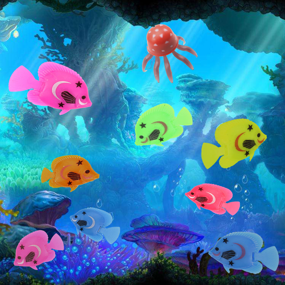 10pcs Aquarium Fish Tank Artificial Plastic Fake Floating