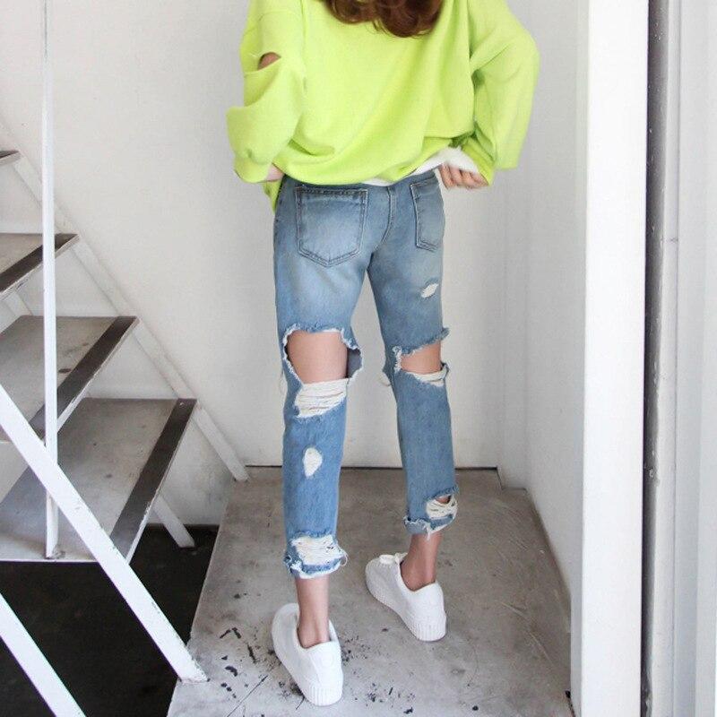Jeans Femmes Pantalon À longueur Cheville Glissière Taille Fermetures Maigre Haute Denim Moulant Bleu drqwOCr