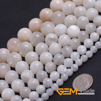 Round Natural Moonstone Beads Strand 15 Free Shipping