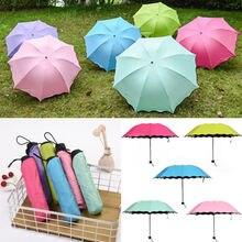 Солнечный дождь мини зонтик с защитой от уф мини складной ветрозащитный легкий путешествия женщин