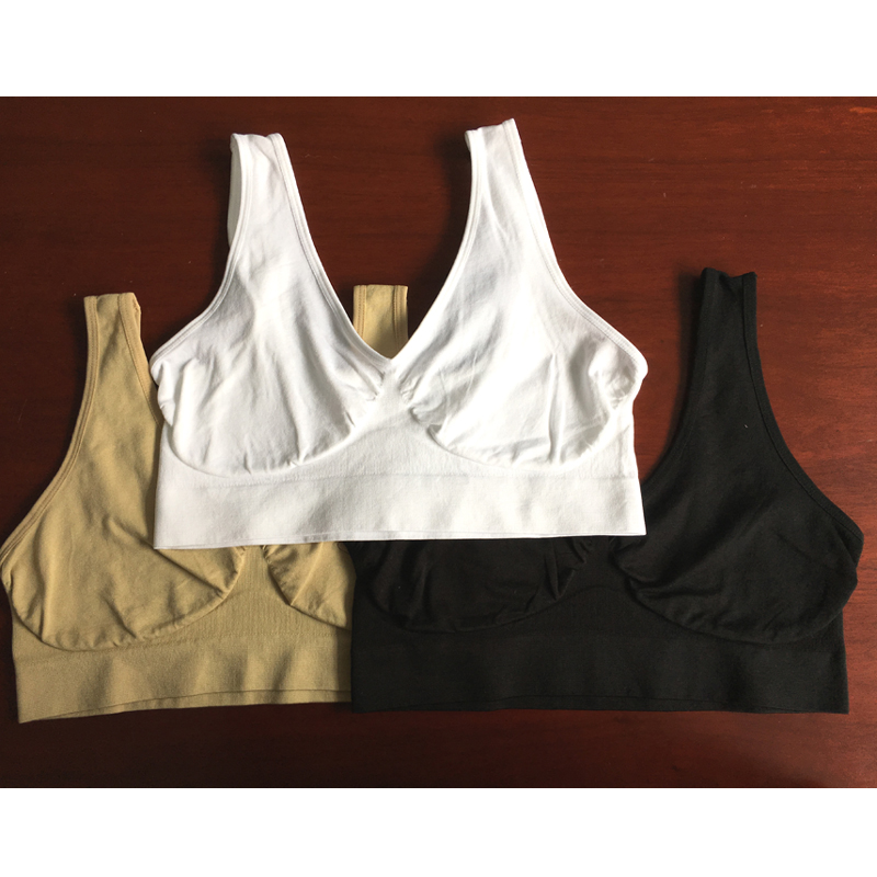 a38c24833e ... AHH BoyaoMax 3 Pcs Set BREAST Ladies Seamless Pullover Sexy Nylon Top  No Padded Plus