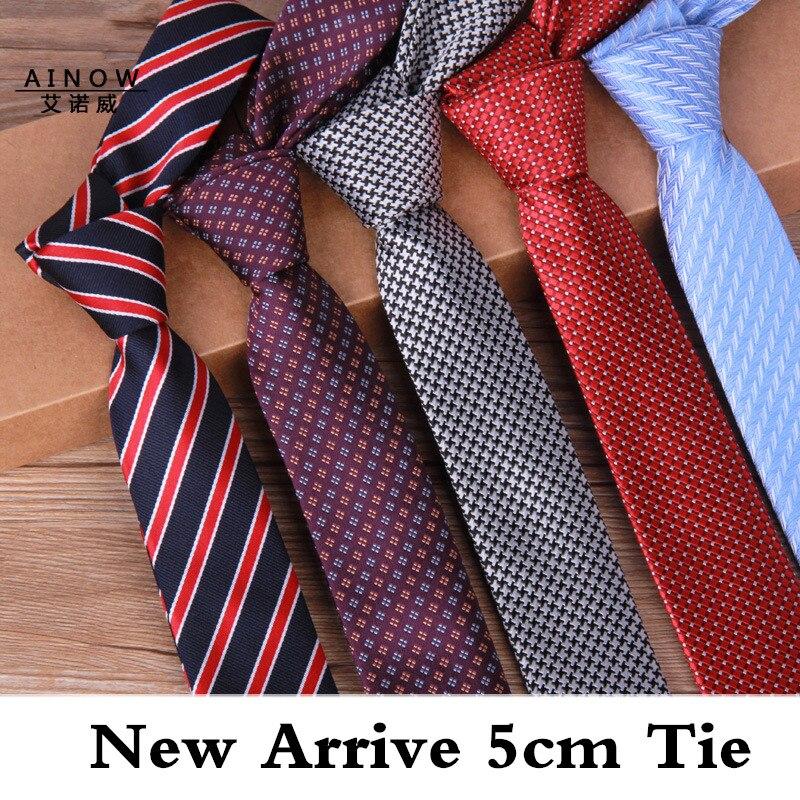 TagerWilen New Arrival Men's Ties 5cm Narrow Korean Version Skinny Tie Casual Wind Of England Married Wedding Necktie T-251