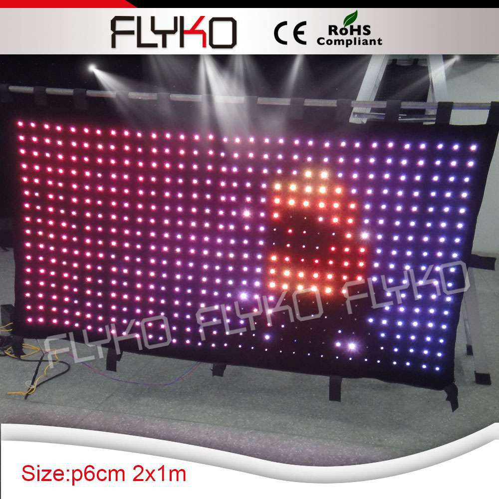 Beautiful LED lighting cloth background High-bright led lamps stage Cloth