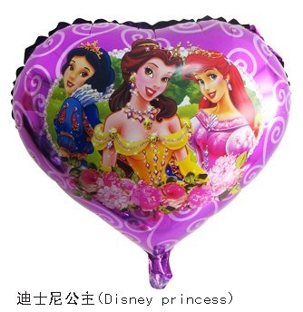 Free shipping 50 pcs/Lot 18 inches foil balloon ,Princess design