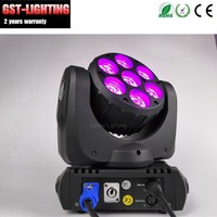 Hi Quality 2pcs/lot Cree Effect 7pcs*12W Led Moving Head Light 15 DMX LYRE STAGE LIGHT