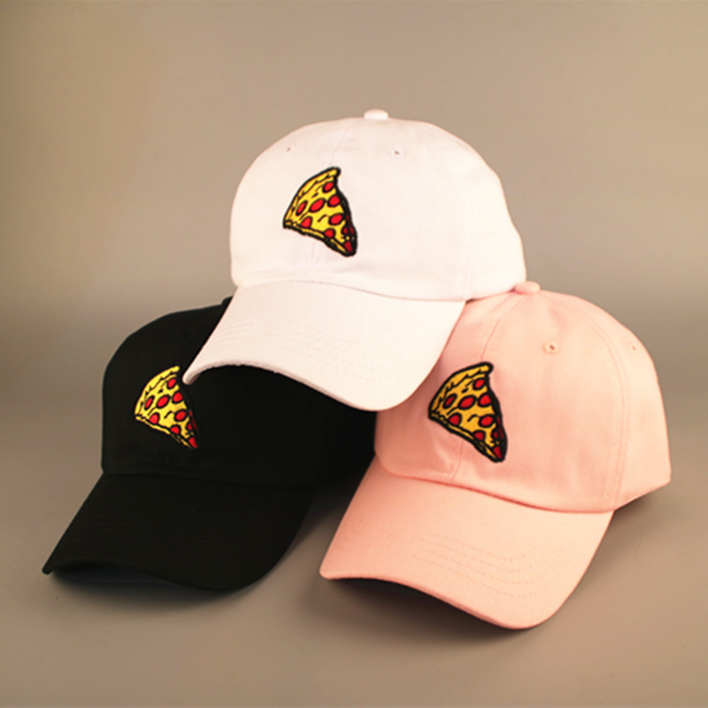 2017 new casual fashion hats   caps   men and women cracked pizza embroidery   baseball     cap   bone masculino snapback dad hat casquette