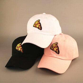 2017 nuevos sombreros de moda casual gorras hombres y mujeres agrietado  pizza bordado gorra de béisbol hueso masculino snapback papá sombrero  casquette 2ffa3e26add