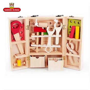 Children Pretend Play Tool Toys for Baby Kids Wooden Multifunctional Tool Kids Role Play Classic baby wooden Educational toys