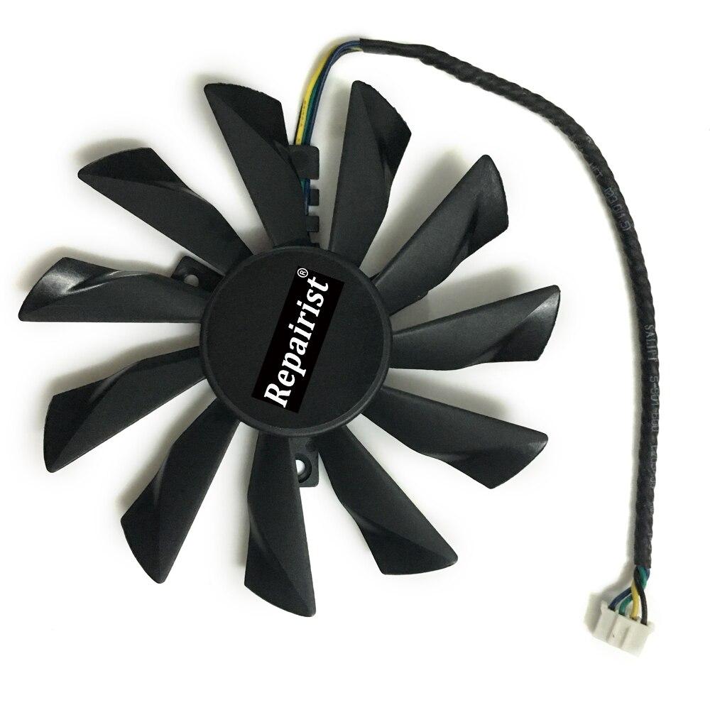 GTX1060 GTX1070 R7-260X GPU Cooler ventilador de gráficos para Radeon R7 260X 2GD5 OC GeForce GTX 1060 GTX 1070 AERO MSI como reemplazo