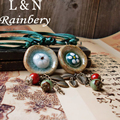 RAINBERY Necklace Pendants New Ceramic Fashion Vintage Handmade Blue And White Jewelry Accessories Wholesale Gifts For Lovers