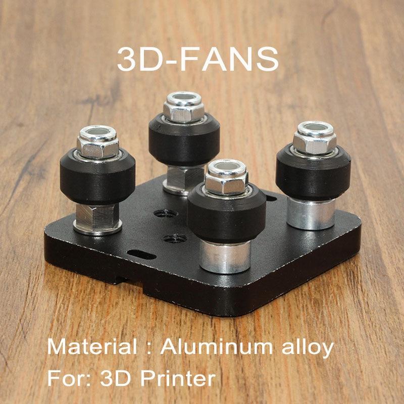 1 Unidades Openbuilds kit especial Placa de deslizamiento para perfiles de aluminio V-slot mini cinco ruleta Openbuilds V pórtico Plat 3D impresora parte