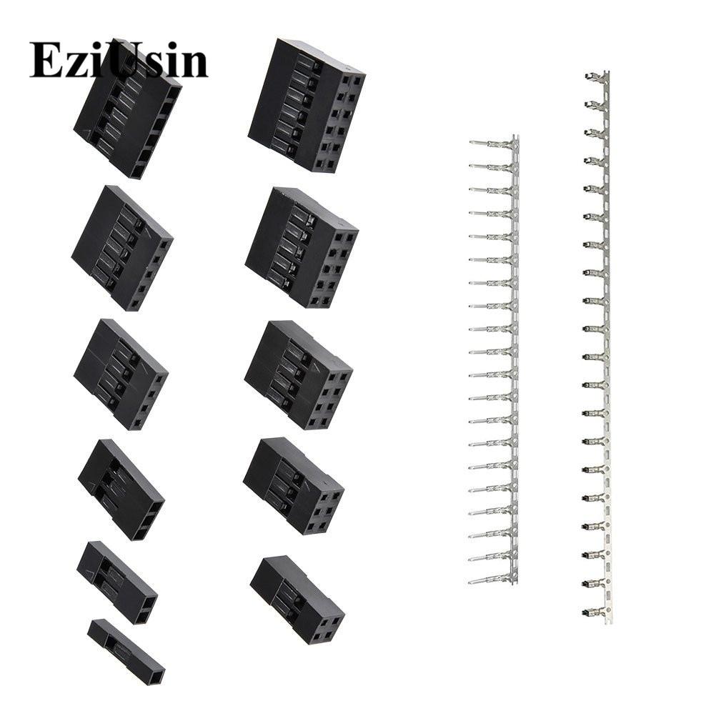 620Pcs Housing Dupont Connector 2.54mm Pitch JST SM 1~6 Pin Header Male Female Crimp Pins Terminal Adaptor Assortment Kit