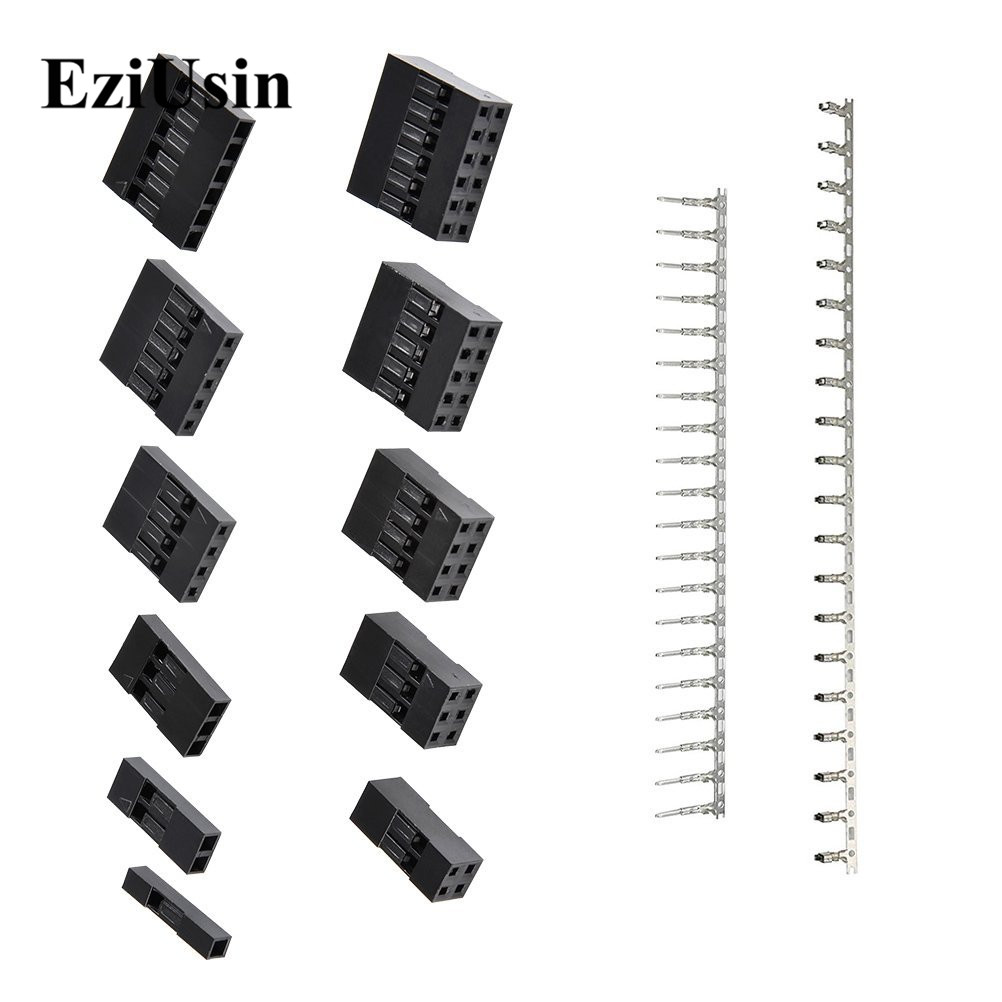 620Pcs Housing Dupont Connector 2.54mm Pitch JST SM 1~6 <font><b>Pin</b></font> <font><b>Header</b></font> Male Female Crimp <font><b>Pins</b></font> Terminal Adaptor <font><b>Assortment</b></font> Kit image