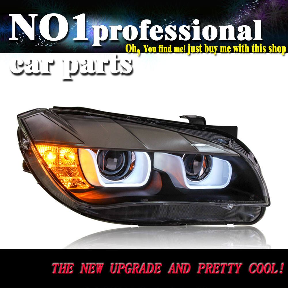 OUMIAO Car Styling Head Lamp for BMW E84 X1 led headlights 2009 2010 2011 2012 2013 2014 E84 led drl HID KIT Bi Xenon Lens low b