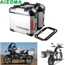 2x36L Steel Motorcycles Side Cases Kit Luggage Bags Saddlebags Lockable Side Box For Yamaha Triumph BMW R1200GS F800GS F800R black motorcycle 36l aluminum side box storage cases kit w mount bracket luaggage box universal for triumph bmw f800gs f800r abs