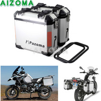 2x36L Steel Motorcycles Side Cases Kit Luggage Bags Saddlebags Lockable Side Box For Yamaha Triumph BMW R1200GS F800GS F800R