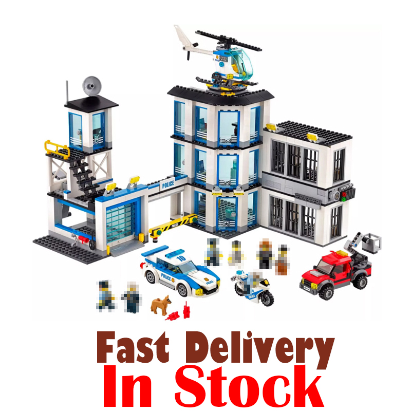 LEPIN City Police Station 02020 965PCS Building Blocks Bricks toys for children gifts brinquedos compatible legoINGly 60141 dhl lepin 02020 965pcs city series the new police station set model building set blocks bricks children toy gift clone 60141