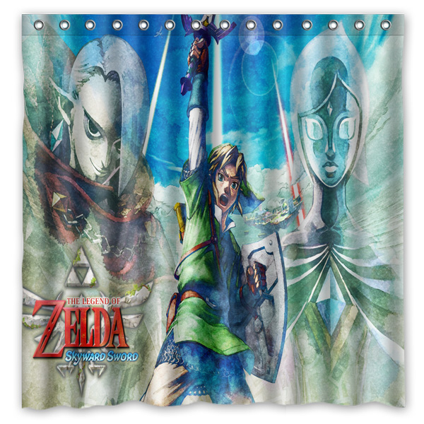 Legend Of Zelda Design Bathroom Shower Curtain WaterproofMildewproof Polyester Fabric Bath Curtains 180cm180cm In From Home Garden On