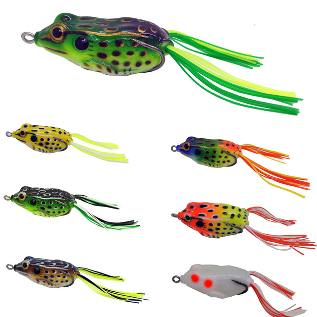 2017 high quality frog lure 55mm 14g snakehead lure for Best fishing lures 2017