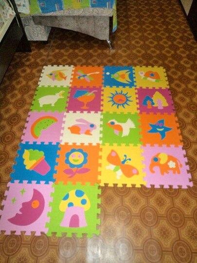 18 pièces tapis Animal de bande dessinée EVA mousse Puzzle tapis enfants Puzzles de sol tapis de jeu pour enfants bébé jouer Gym ramper tapis doux tuiles - 5