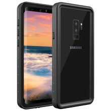For Galaxy S9 plus Waterproof case IP68 life water Shock Dirt Snow Proof Protection for Samsung Galaxy S9+ With Touch ID Cover for galaxy s8 plus case shock dirt snow proof protection for samsung galaxy s8 with touch id cover