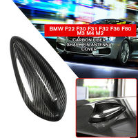 pcmos Car Styling Exterior Accessories Fits For BMW F22 F30 F31 F32 F36 F80 M3 M4 M2 Carbon Fiber Antenna Shark Cover Trim New