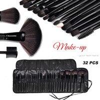 Professional Makeup Brushes Set 32pcs PU Leather Bag Make Up Tools Nature Hair Eyeshadow Cosmetic Kit