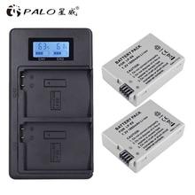 פאלו 2Pcs 1800mah LP E8 LPE8 LP E8 סוללה Batterie AKKU + LCD כפולה מטען עבור Canon EOS 550D 600D 650D 700D X4 X5 X6i X7i T2i
