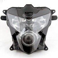 ALLGT Motorcycle HeadLight For Suzuki 2004 2005 GSXR 600 750 K4 Clear Head Light Black