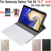 Removable Bluetooth Keyboard Leather Case for Samsung Galaxy Tab S4 10.5 inch T830 T835 SM T830 Cover Funda with Pencil Holder