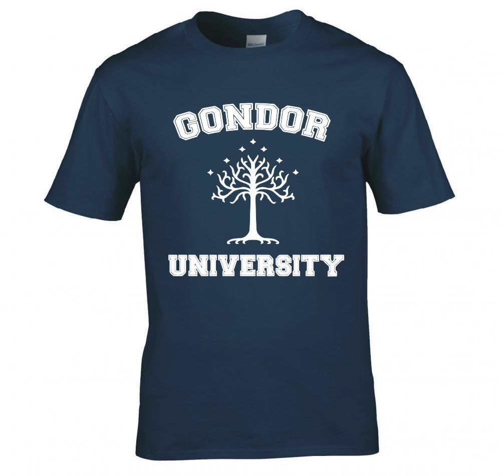 Design t shirt university - Lord Of The Rings Hobbit Gondor University T Shirt Short Sleeve Funny Design China