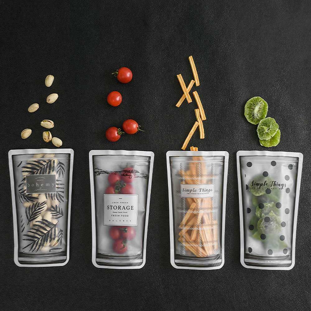 8Pcs Moisture Storage Bag Seal Nut Waterproof Ziplock Bags For Fruit And Vegetable Refrigerator Storage Tool