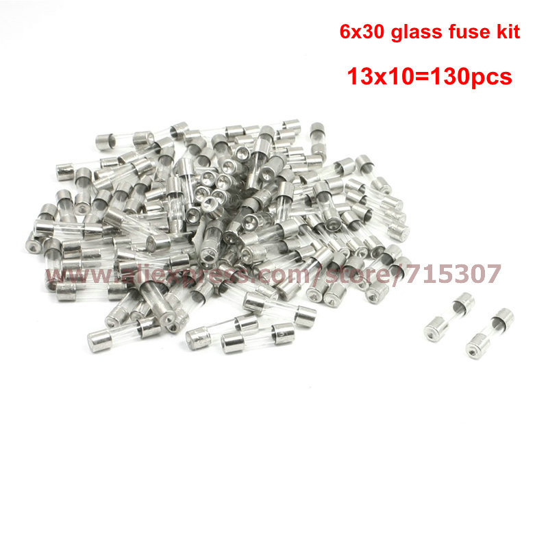 Fast blow fuse 6*30 / 6x30mm glass fuse kit 0.5A 1A 2A 3A