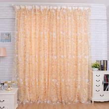 1PC 1M*2M Window Curtains Sheer Voile Tulle for Bedroom Living Room Balcony Kitchen Sun-shading Curtain