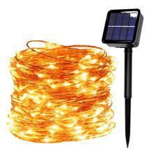 Светодиодный светильник на солнечной батарее, USB светодиодный, гирлянда, сказочный, праздничный, Рождественский, солнечный, вечерние, гирлянда, Солнечный сад, водонепроницаемый свет