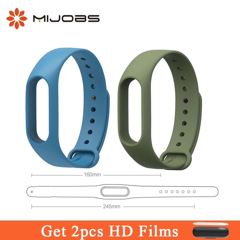 Mijobs Lengthened Silicone Strap 160-245mm Watch Band Mi Band2 Wrist Strap Bracelet for Xiaomi Mi band 2 Smart Watch Accesoories