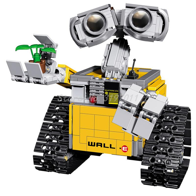 Lepin 16003 IDEA WALL E Robot Figure Educational WALL-E Building Blocks Model Toy for Children Gift Compatible 21303 new lepin 16003 idea robot wall e 21303 building kits bricks blocks bringuedos the fire 70615 03073 toys for children military