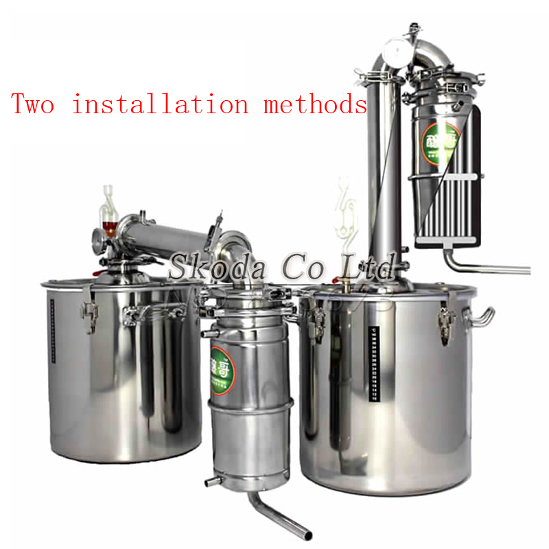 New product hot distiller moonshining distillation tower family brewing tools brandy whiskey red wine beer brewing