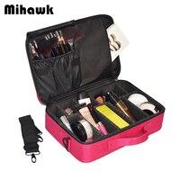 S Size Beautician Professional Cosmetic Bag Multi Layer Makeup Tools Organizer Box Case Portable Toiletries Shoulder
