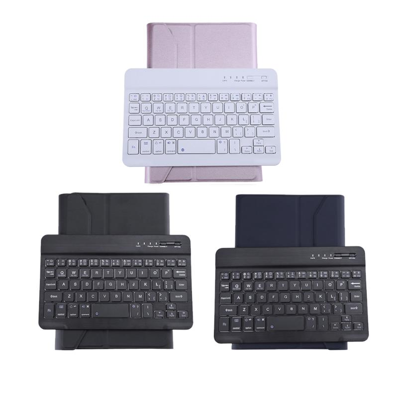 Foldable Tablet Bluetooth Keyboard PU Case Cover Stand Wireless Keyboard for iPad Mini 2 Mini 4 Mini 3 universal 61 key bluetooth keyboard w pu leather case for 7 8 tablet pc black