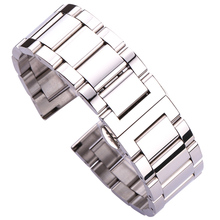18 20 21 22 23 24mm Metal Watch Band Strap Men High Quality Stainless Steel Watchband Link Bracelet Double Fold Deployment Clasp wholesale 10pcs set metal watch buckle 18 20 22 24mm men watchband strap 316l stainless steel clasp accessories